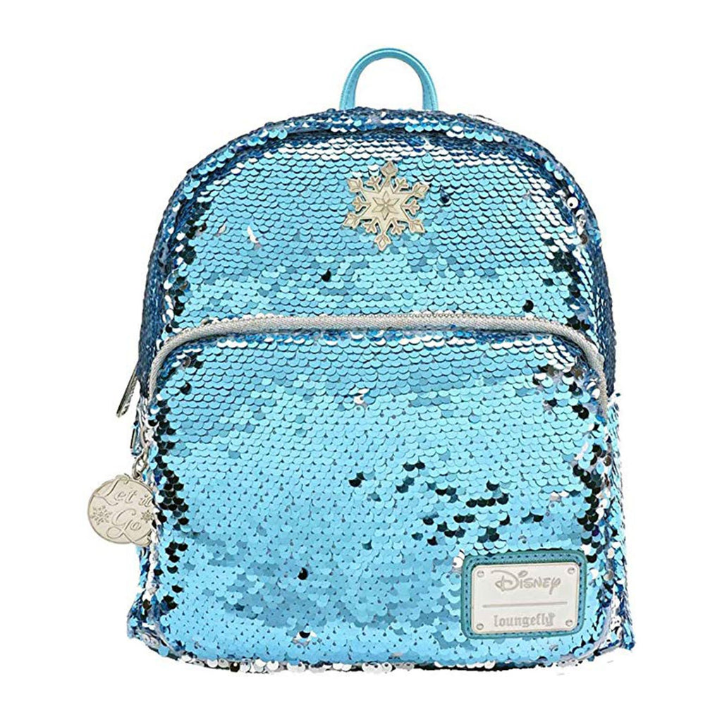 Loungefly Disney Frozen Elsa Reversible Sequin Mini Backpack