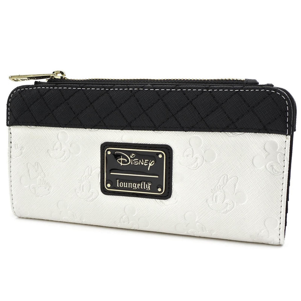 Loungefly Disney Mickey And Minnie Mouse White Black Wallet