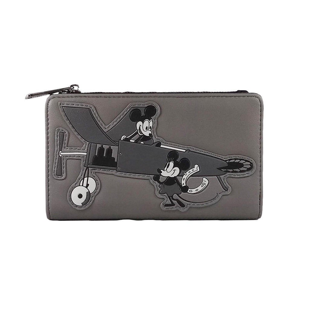Loungefly Disney Mickey Mouse Plane Crazy Mini Wallet