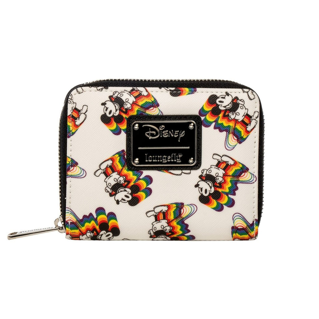 Loungefly Disney Mickey Mouse Rainbow Small Zip-Around Wallet