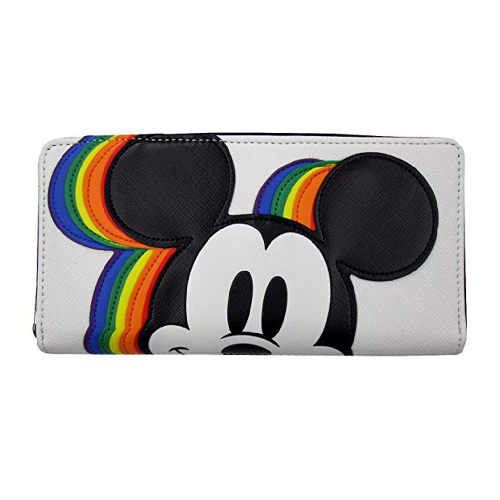 Loungefly Disney Mickey Mouse Rainbow Zip Around Wallet