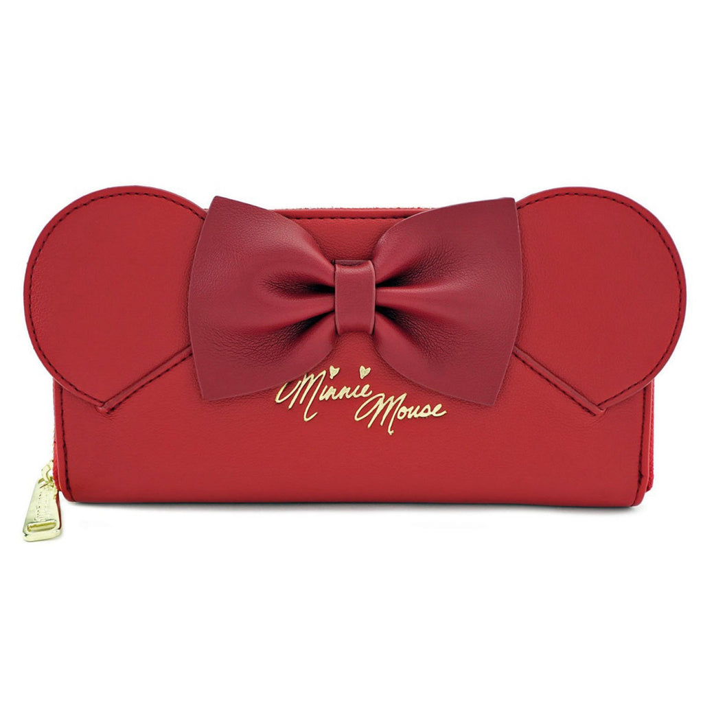 Loungefly Disney Minnie Mouse Ears Red Zip Around Wallet