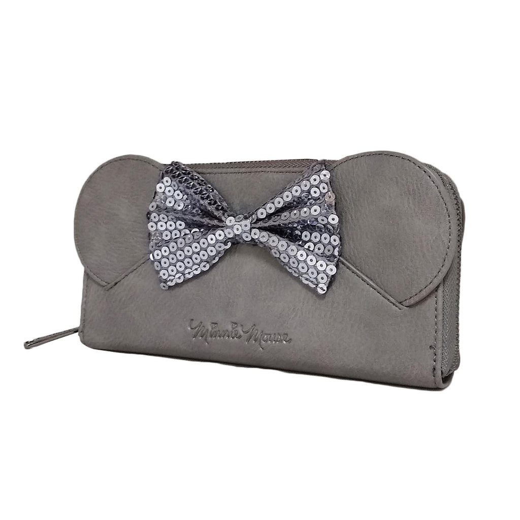 Loungefly Disney Minnie Mouse Sequin Bow Gray Wallet