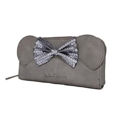 Wallets - Loungefly Disney Minnie Mouse Sequin Bow Gray Wallet