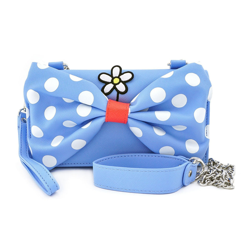 Loungefly Disney Positively Minnie Polka Dot Crossbody Wristlet