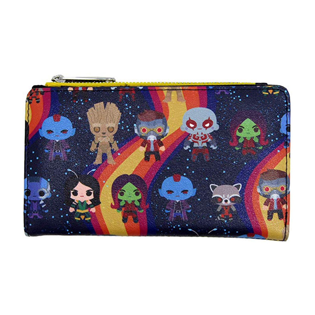 Loungefly Marvel Guardians Of The Galaxy Chibi All Over Print Wallet
