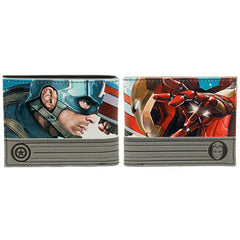Marvel Civil War Captain America And Iron Man Bi-Fold Wallet - Radar Toys