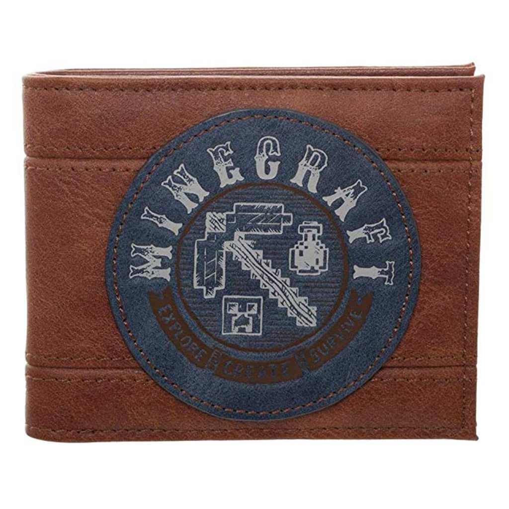 Minecraft Adventure Brown Bi-Fold Wallet