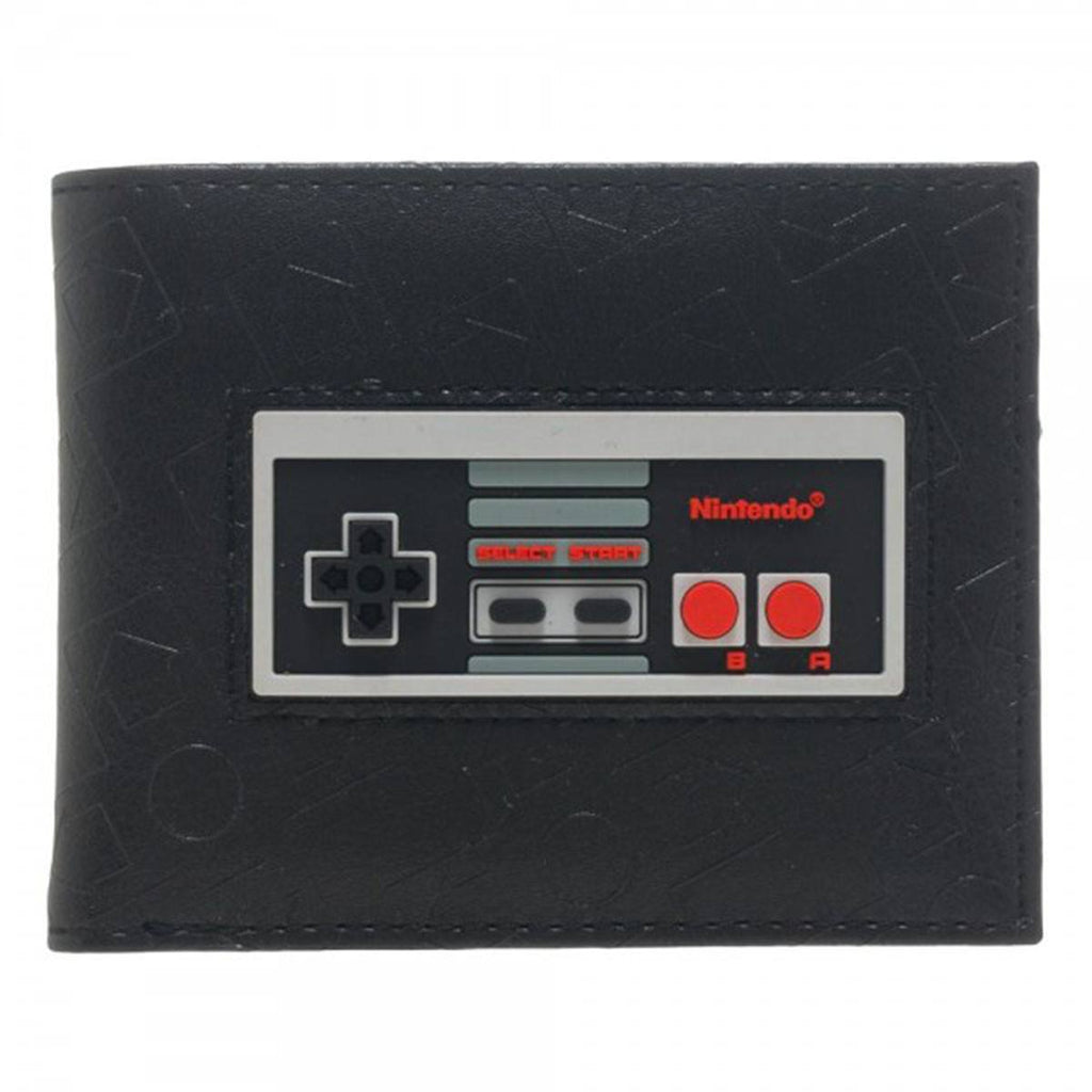 Nintendo Controller Black Inlay Bi-Fold Wallet