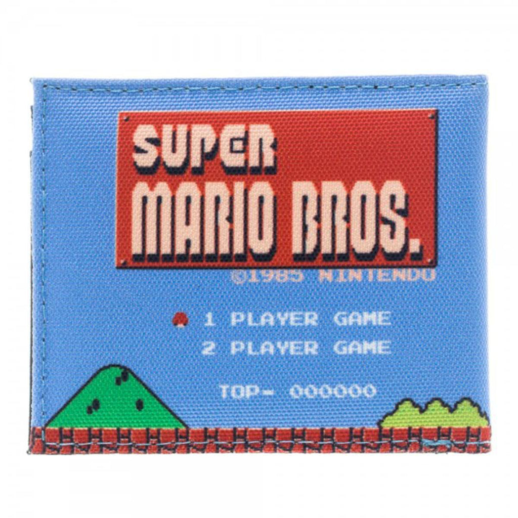 Nintendo Super Mario Level Sublimated Bi-Fold Wallet