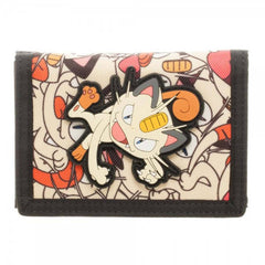 Pokemon Meowth Tri-Fold Wallet - Radar Toys