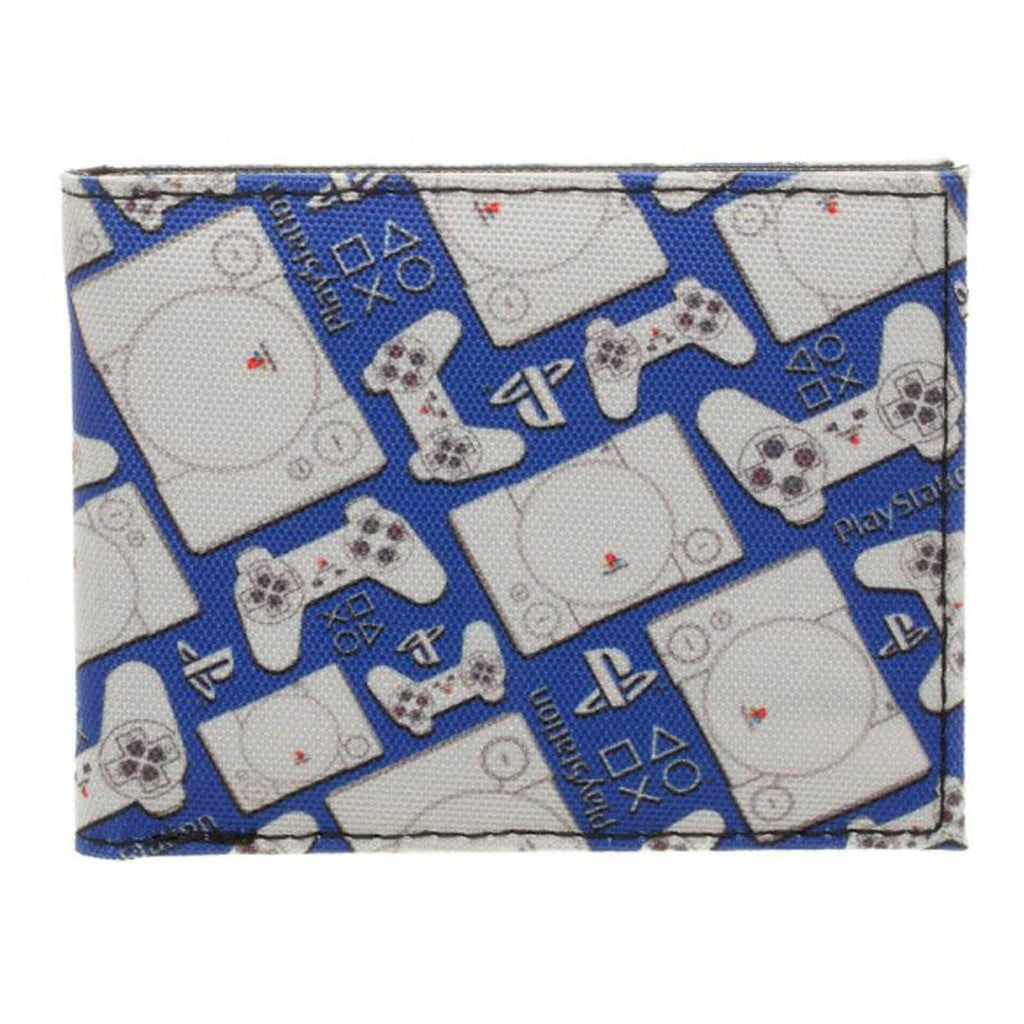Sony Playstation And Controller Retro Bi-Fold Wallet