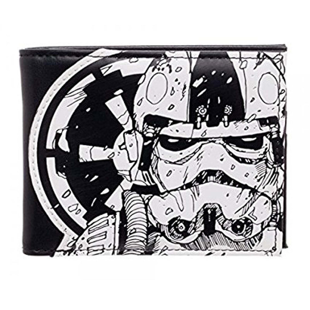Star Wars Trooper Black And White Bi-Fold Wallet