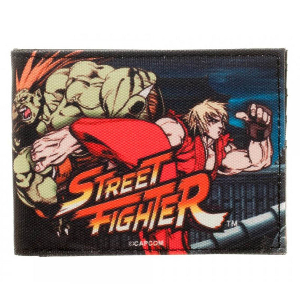 Street Fighter Ken And Blanka Bi-Fold Wallet