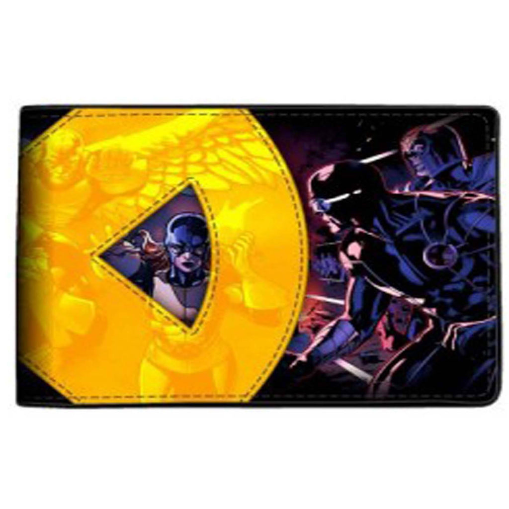 X-Men Applique Yellow Logo Bi-Fold Wallet