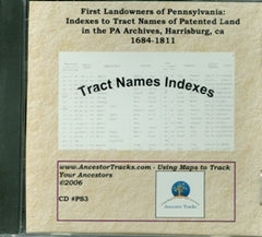 Index to Tract Names of Patented Land in the PA Archives