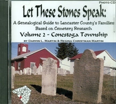 Let these Stones Speak, Vol. 2 (Conestoga Twp.)
