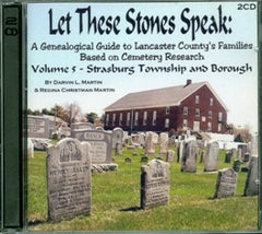 Let these Stones Speak, Vol. 5 (Strasburg Twp. and Boro.)
