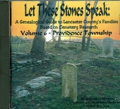 Let these Stones Speak, Vol. 6 (Providence Township)
