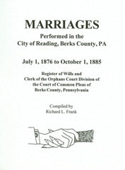 Marriages Performed in the City of Reading