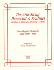 Armstrong Democrat & Sentinel Genealogical Abs., Vol. 1