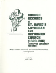 Church Records of St. David's Lutheran & Reformed Church