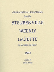 1893 Genealogical Selections from the Steubenville Weekly Gazette