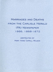 Marriages and Deaths from the Carlisle Herald Newspaper