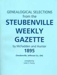 1895 Genealogical Selections from the Steubenville Weekly Gazette