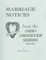 Marriage Notices from the Ohio Observer Series
