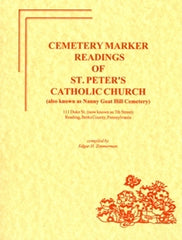 Cem. Marker Readings of St. Peter's Cemetery