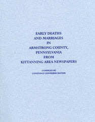 Early Deaths & Marriages in Armstrong County, PA