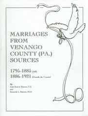 Marriages from Venango County Sources