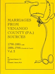 Marriages from Venango County, PA Sources, Vol. 2