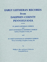 Early Lutheran Records from Dauphin County, PA