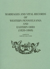 Marriages and Vital Records of Western PA and Eastern OH