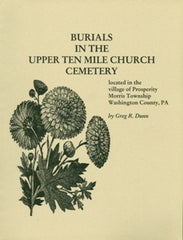 Burials in the Upper Ten Mile Church Cemetery