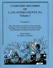 Cemeteries of Lancaster Co., PA, Vol. 1