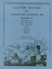 Cemeteries of Lancaster Co., PA, Vol. 2