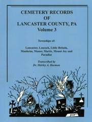 Cemeteries of Lancaster Co., PA, Vol. 3