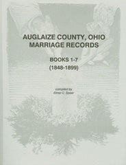 Auglaize County Marriage Records, Books 1-7