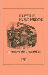 1789 Revolutionary War Register of Invalid Pensions