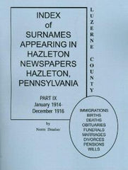 Index of Surnames Appearing in Hazleton Newspapers, Hazleton, PA, Part IX