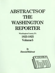 Abstracts of the Washington Reporter, 1823-1825, Bk 5