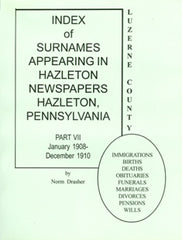 Index of Surnames Appearing in Hazleton Newspapers, Part VII