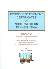 Proof of Settlement Certificates of NW PA, Bk 2