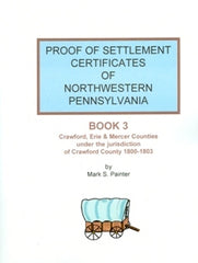 Proof of Settlement Certificates of NW PA, Bk 3