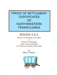 Proof of Settlement Certificates of NW PA, Bks 4 and 5