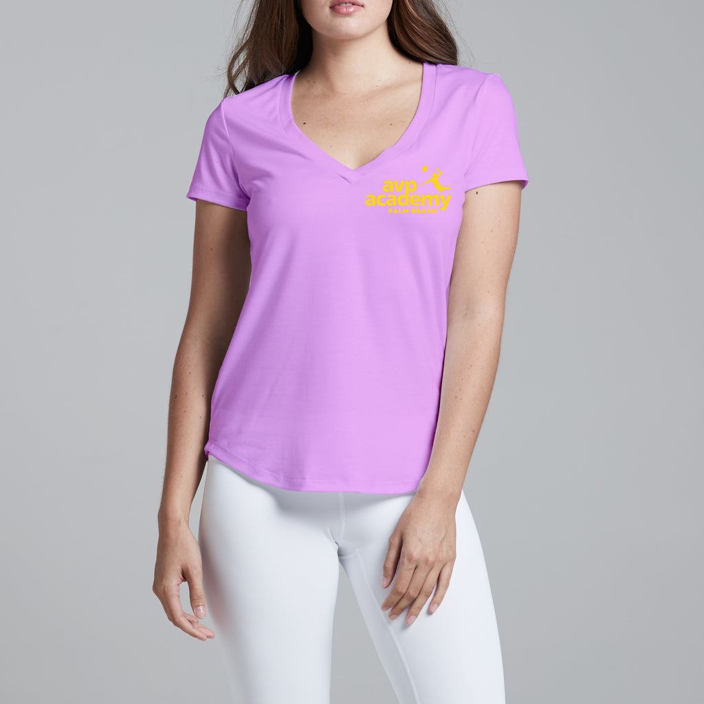 AVPA PB V-Neck Pink with quote