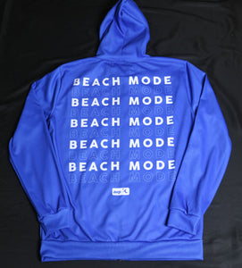 Iconic Cobalt Beach Mode Zip-Up Hoodie